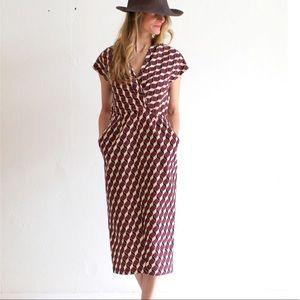 Apiece Apart Tilda Geo Print Dress Size 8